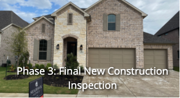 Phase 3 Final New Construction Inspection